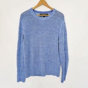 Banana Republic men's linen blue Large sweater
